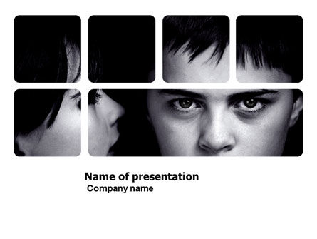 People: Child Psychology PowerPoint Template #03802
