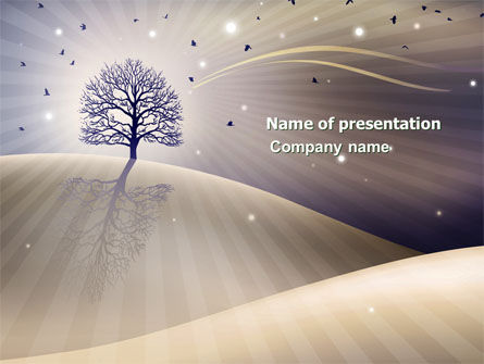 Abstract/Textures: Plantilla de PowerPoint - árbol brillante #03804