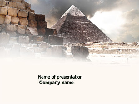 Careers/Industry: Pharaoh's Land PowerPoint Template #03806
