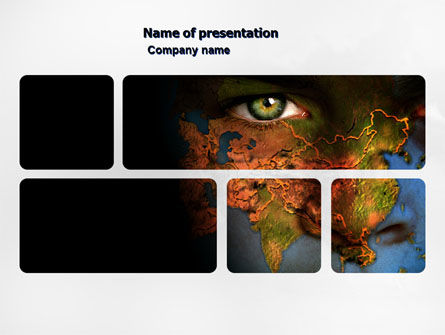 Eyes of Earth PowerPoint Template