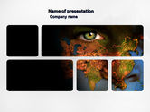 Nature & Environment: Eyes of Earth PowerPoint Template #03807