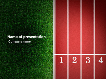Sports: Starting Line PowerPoint Template #03809