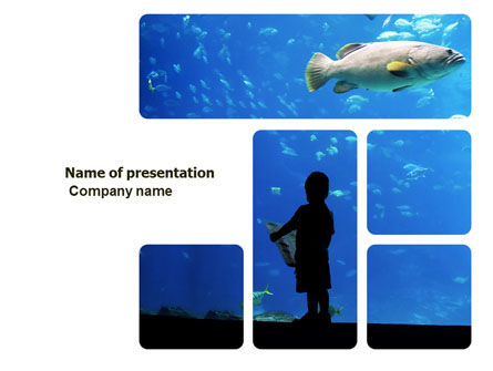 Public Aquaria PowerPoint Template, 03810, Nature & Environment — PoweredTemplate.com