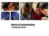 People: Playing Kids PowerPoint Template #03811