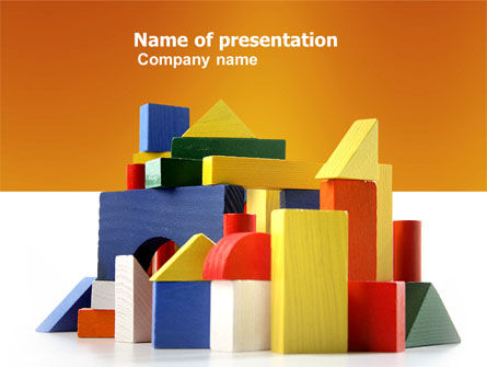 Education & Training: Wooden Kit PowerPoint Template #03812