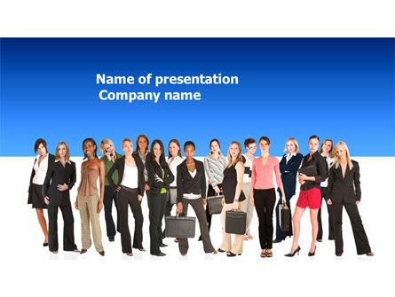 People: Business Ladies PowerPoint Template #03813