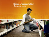 Education & Training: Librarian PowerPoint Template #03815