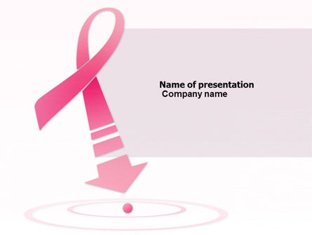 Medical: Breast Cancer Ribbon PowerPoint Template #03816