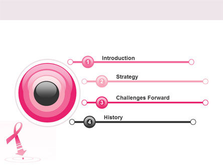 Breast Cancer Ribbon PowerPoint Template Slide 4