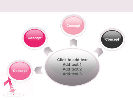 breast cancer powerpoint presentation templates - breast cancer ribbon powerpoint template backgrounds