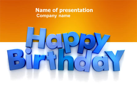 happy birthday powerpoint template, backgrounds | 03817, Powerpoint templates