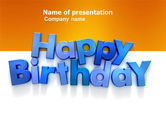 Holiday/Special Occasion: Happy Birthday PowerPoint Template #03817