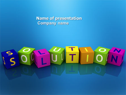 Solution 3D PowerPoint Template, 03819, Education & Training — PoweredTemplate.com