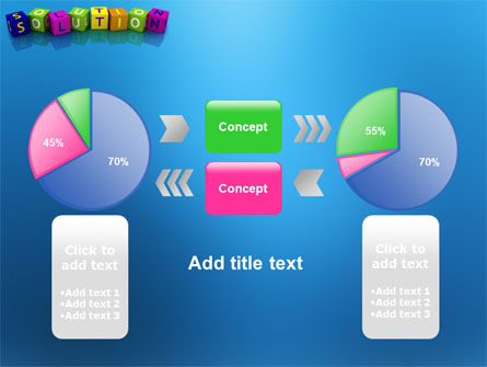 Solution 3D PowerPoint Template Slide 11