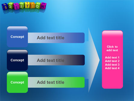 Solution 3D PowerPoint Template Slide 12