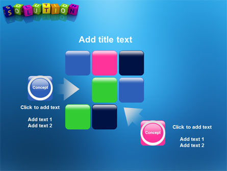 Solution 3D PowerPoint Template Slide 16