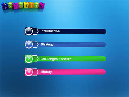 Solution 3D PowerPoint Template, Slide 3, 03819, Education & Training — PoweredTemplate.com