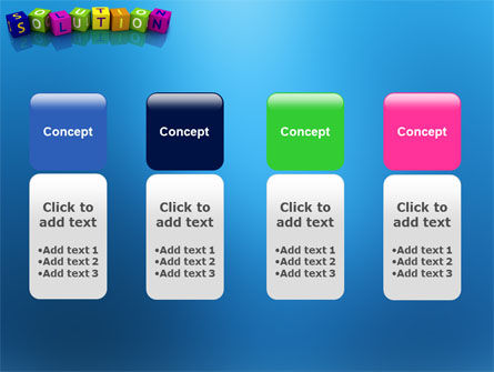 Solution 3D PowerPoint Template Slide 5
