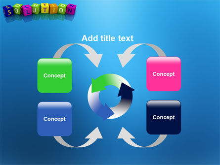 Solution 3D PowerPoint Template Slide 6