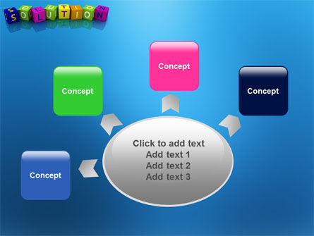 Solution 3D PowerPoint Template Slide 7