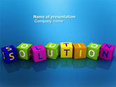 Education & Training: Solution 3D PowerPoint Template #03819