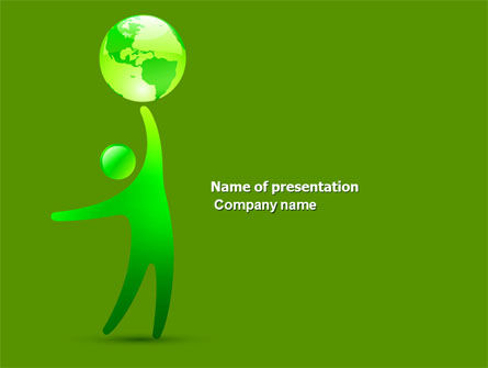 Eco-World PowerPoint Template, 03820, Nature & Environment — PoweredTemplate.com