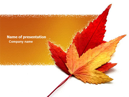 Autumn Foliage PowerPoint Template