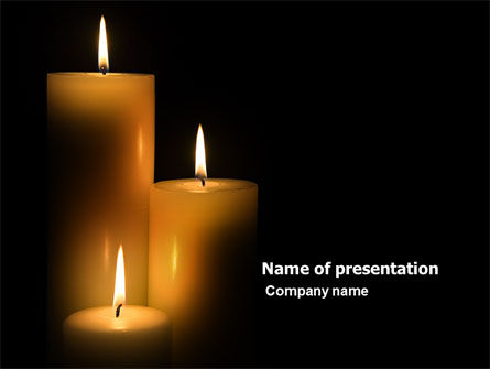 Religious/Spiritual: Candles PowerPoint Template #03822