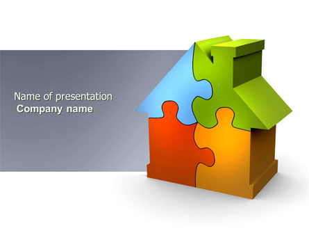 Construction: Real Estate Finance Puzzle PowerPoint Template #03823