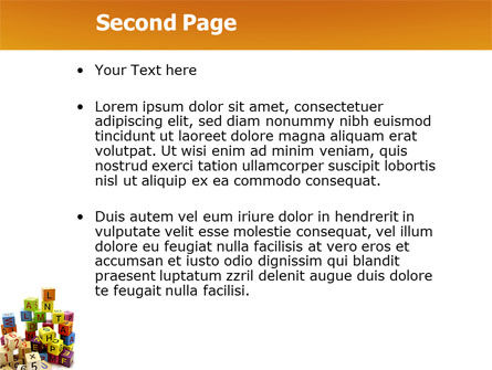 Toy Bricks PowerPoint Template Slide 2