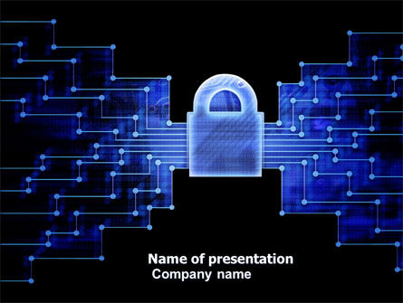 Safe Data Transfer PowerPoint Template, 03825, Technology and Science — PoweredTemplate.com