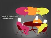 Business: Dialogue PowerPoint Template #03826