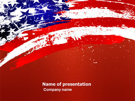 Torn Flag PowerPoint Template, 03827, America — PoweredTemplate.com