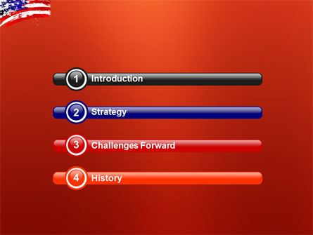 Torn Flag PowerPoint Template, Slide 3, 03827, America — PoweredTemplate.com