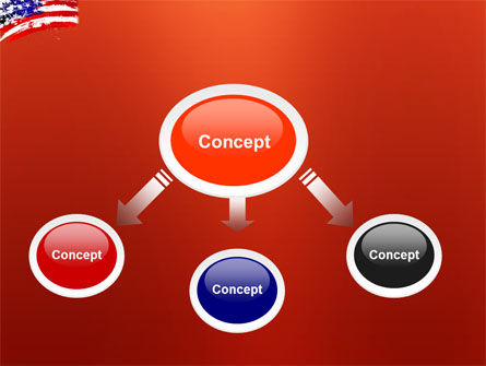 Torn Flag PowerPoint Template, Slide 4, 03827, America — PoweredTemplate.com