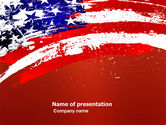 America: Torn Flag PowerPoint Template #03827