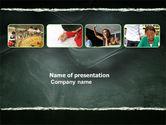 Education & Training: Plantilla de PowerPoint - proceso de estudio #03833