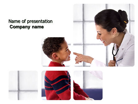 Medical: Paediatrist PowerPoint Template #03835
