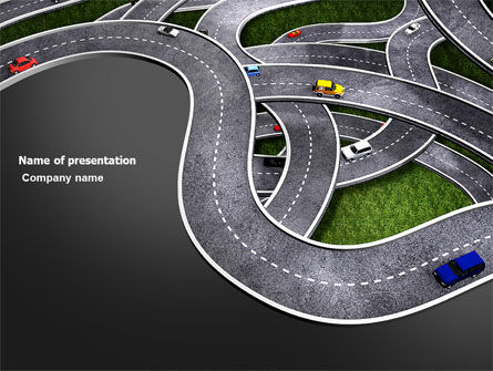 Highway Junction PowerPoint Template, 03837, Cars and Transportation — PoweredTemplate.com