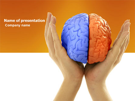Cerebral Hemispheres PowerPoint Template, 03840, Consulting — PoweredTemplate.com