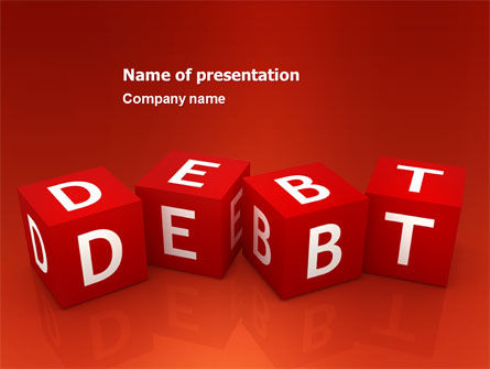 Financial/Accounting: Debt PowerPoint Template #03841
