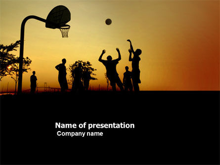 Sports: Street Basketball PowerPoint Template #03843