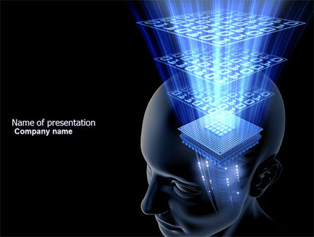 Digital Memory PowerPoint Template, 03844, Technology and Science — PoweredTemplate.com