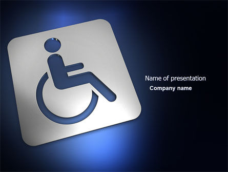 Medical: Disabled Person PowerPoint Template #03845