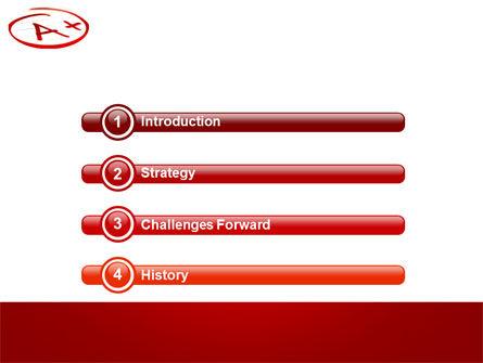 Excellent Grade PowerPoint Template, Slide 3, 03851, Education & Training — PoweredTemplate.com