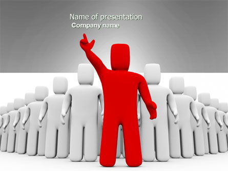 3D: Red Leader PowerPoint Template #03853