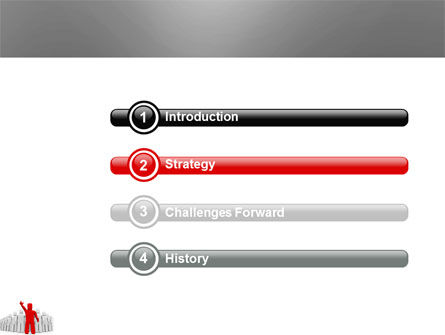 Red Leader PowerPoint Template, Slide 3, 03853, 3D — PoweredTemplate.com