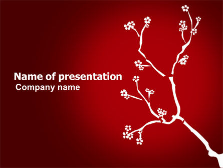 Nature & Environment: Flower Ornament PowerPoint Template #03857