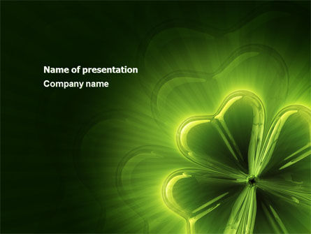 Abstract/Textures: Clover Theme PowerPoint Template #03858
