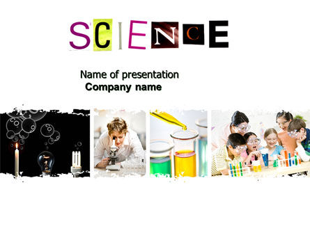 Technology and Science: Science in School PowerPoint Template #03859